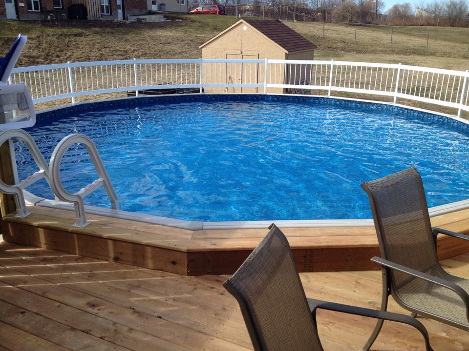 Evolution 12 x 24 ft oval above ground pool custom pool - Custom above ground pool ...