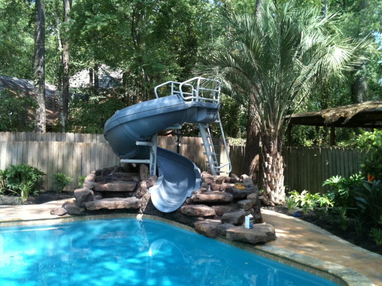Vortex Inground Pool Slide Closed Flume and Ladder (Blue)
