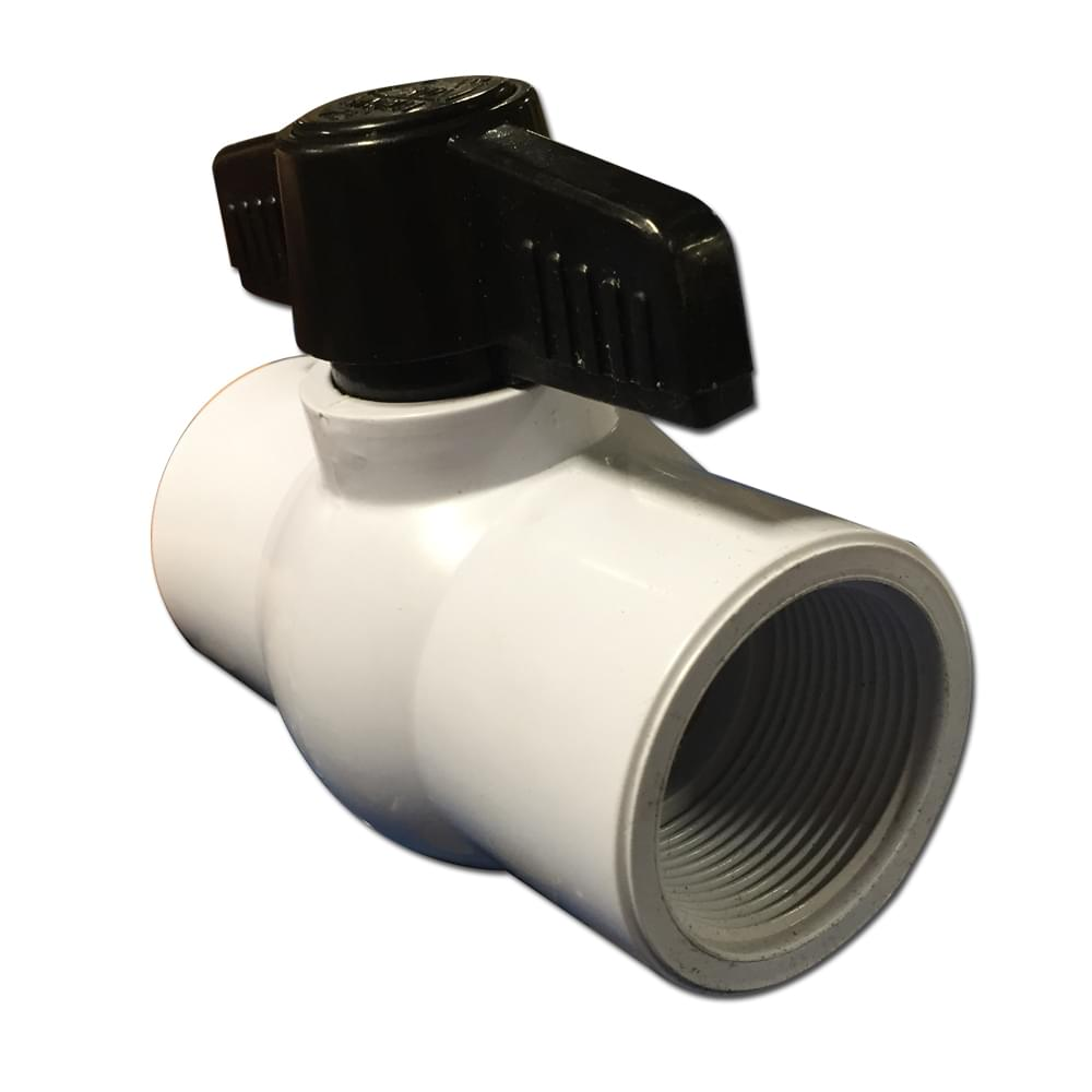 1 5 Inch Pvc Ball Valve With Female Threaded Connections