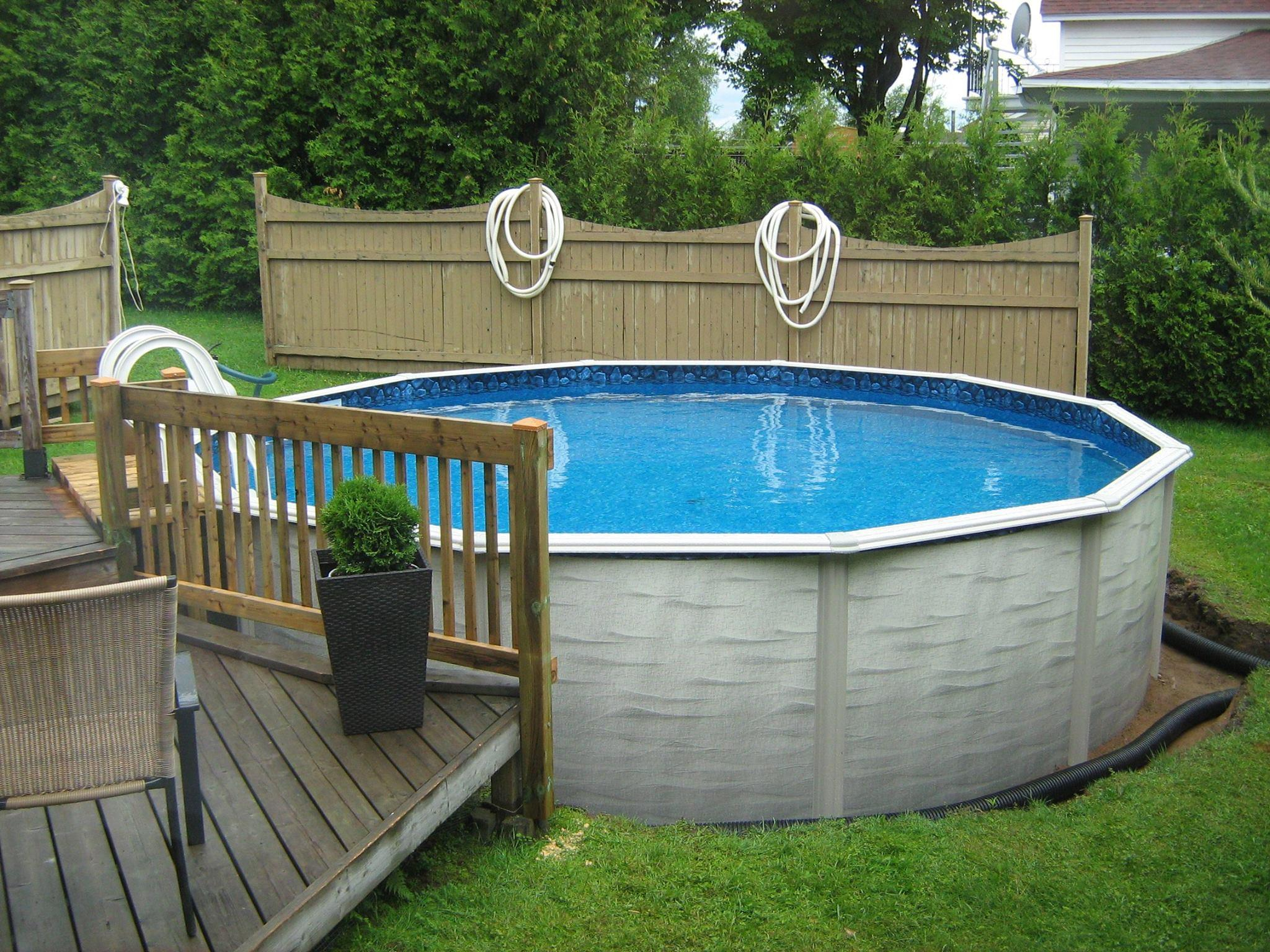 Evolution 24 ft round above ground pool for Piscine 24 pieds