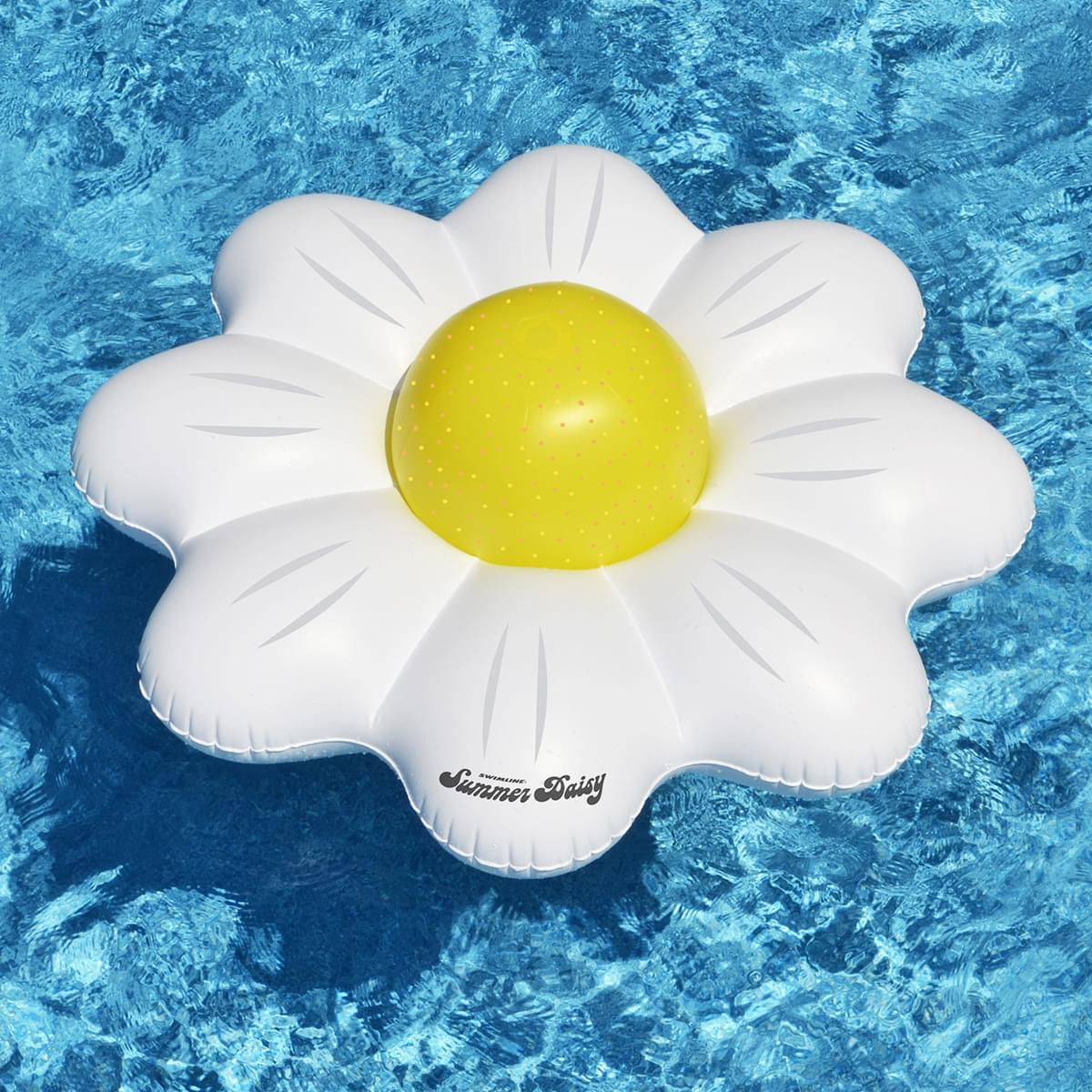 Daisy Flower Pool Float Ring And Ball Combo Set Pool