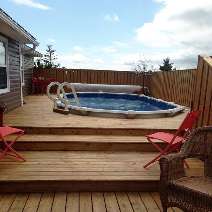 Nature 12 x 18 ovale sans contrefort personnalis for Chauffe eau solaire pour piscine hors terre