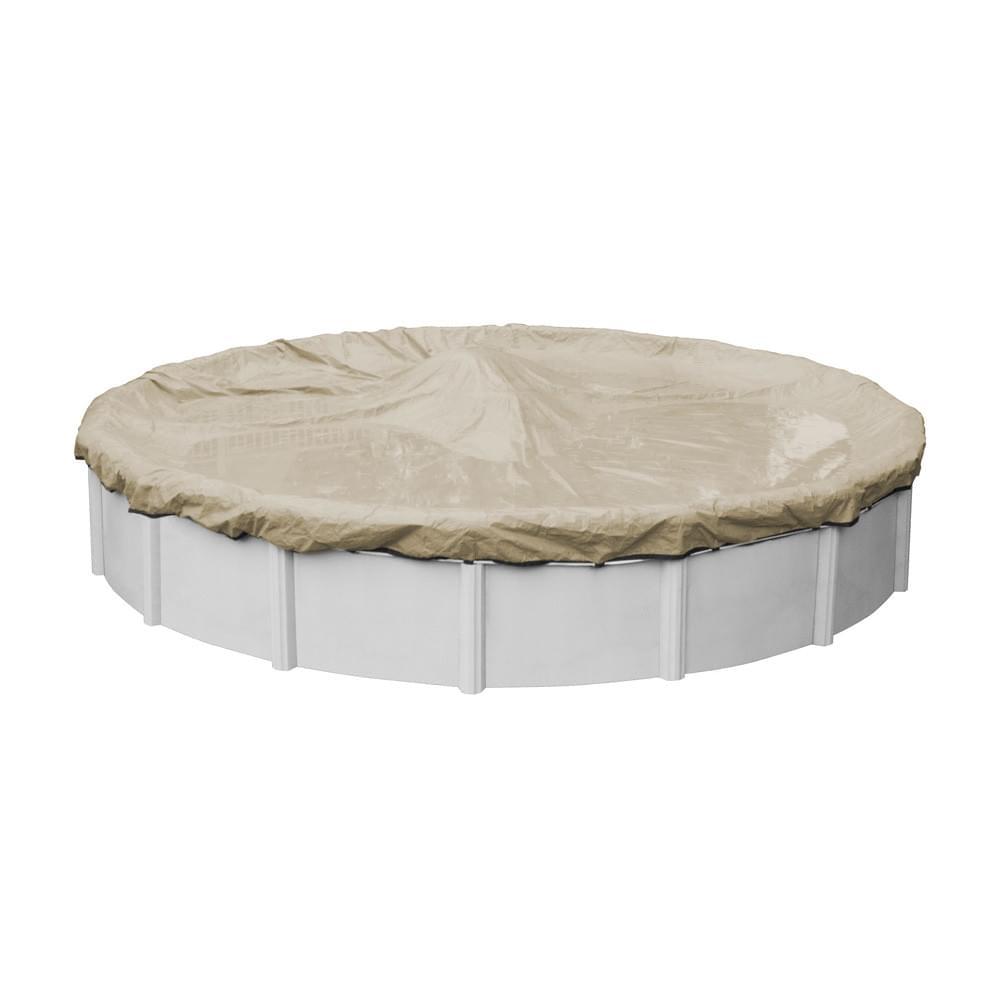 27 Ft Round Premium Hd Tan Pool Winter Cover Pool