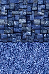 Blue Slate Stream Stone 18 Ft Round Beaded Liner 52 Inch
