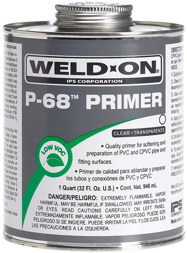 Weld-On IPS P-68 Primer Clear (1 Pint)