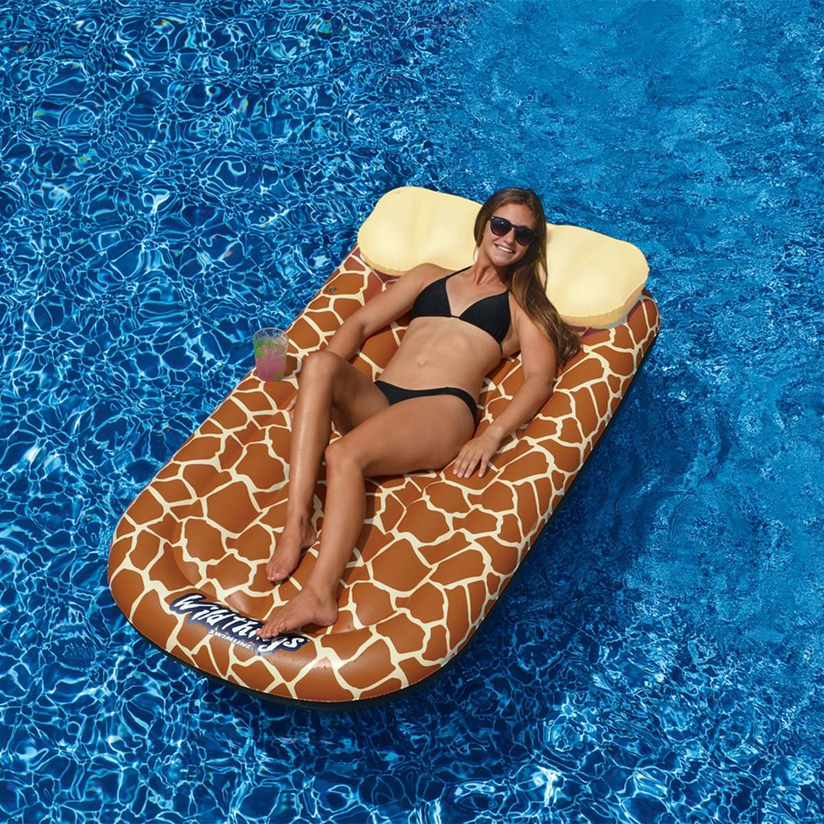 Wild Things Floating Giraffe Pool Mat Pool Supplies Canada