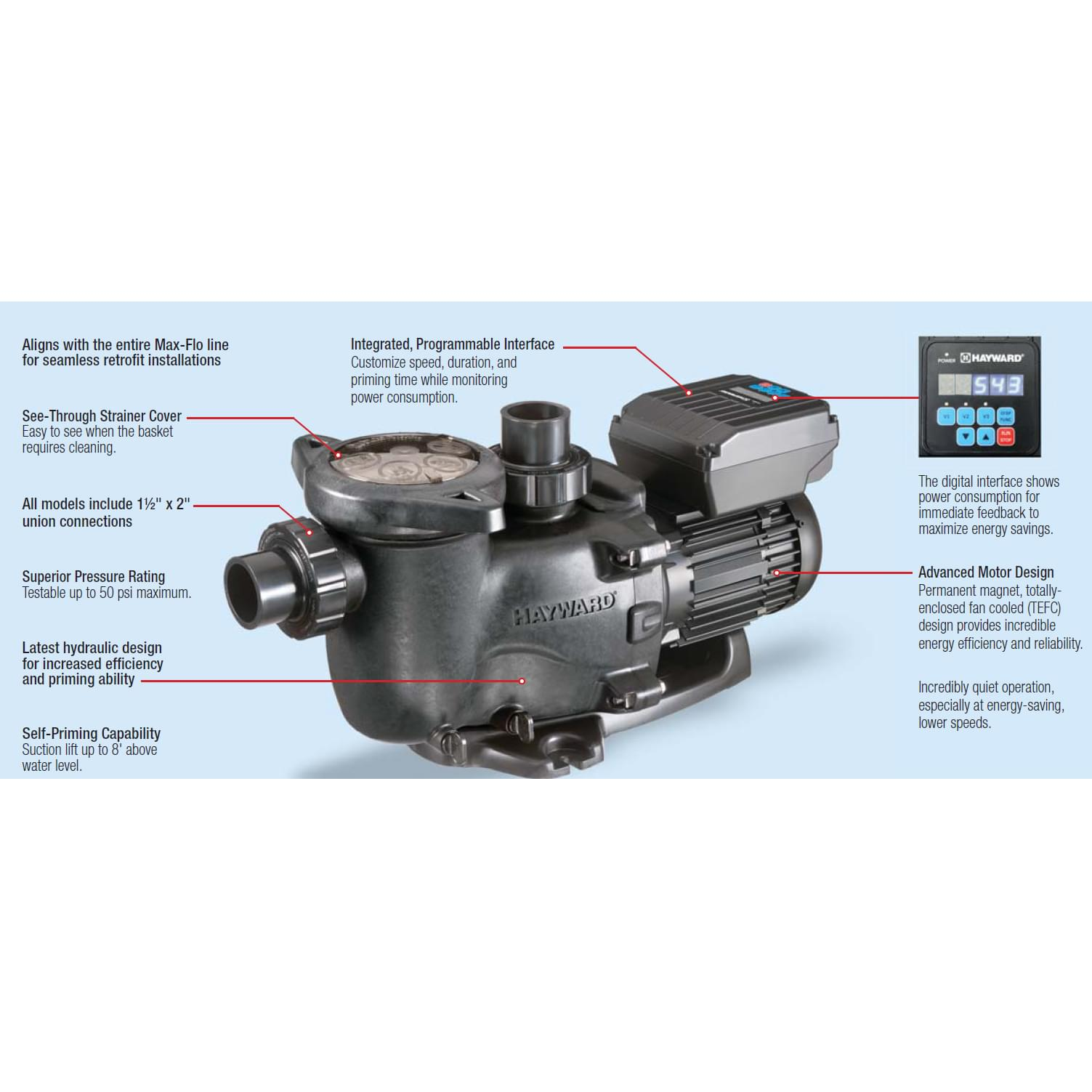 Hayward maxflo vs variable speed pump pool supplies canada - Hayward pool equipment ...