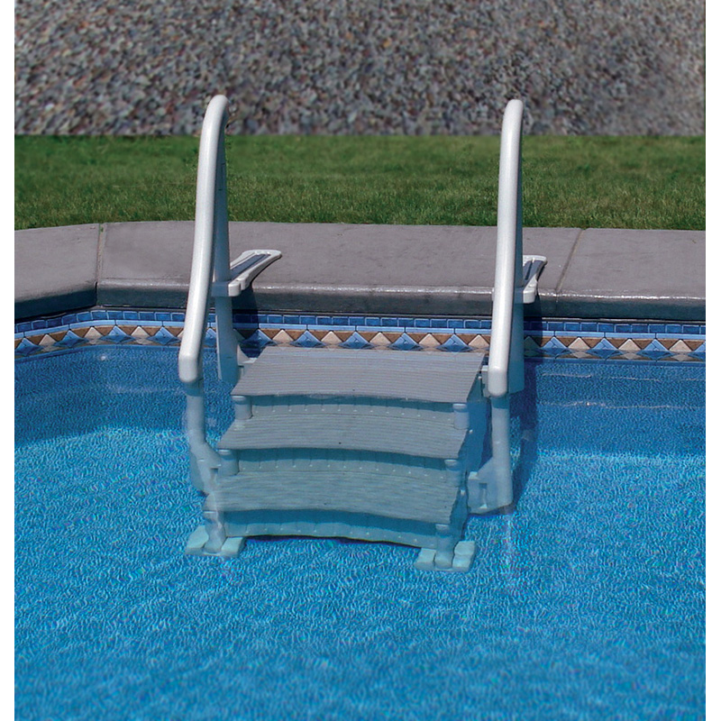 Confer curve add on step unit pool supplies canada for Above ground pool equipment