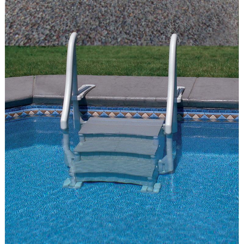 Confer curve base step for above ground pools pool for Above ground pool equipment