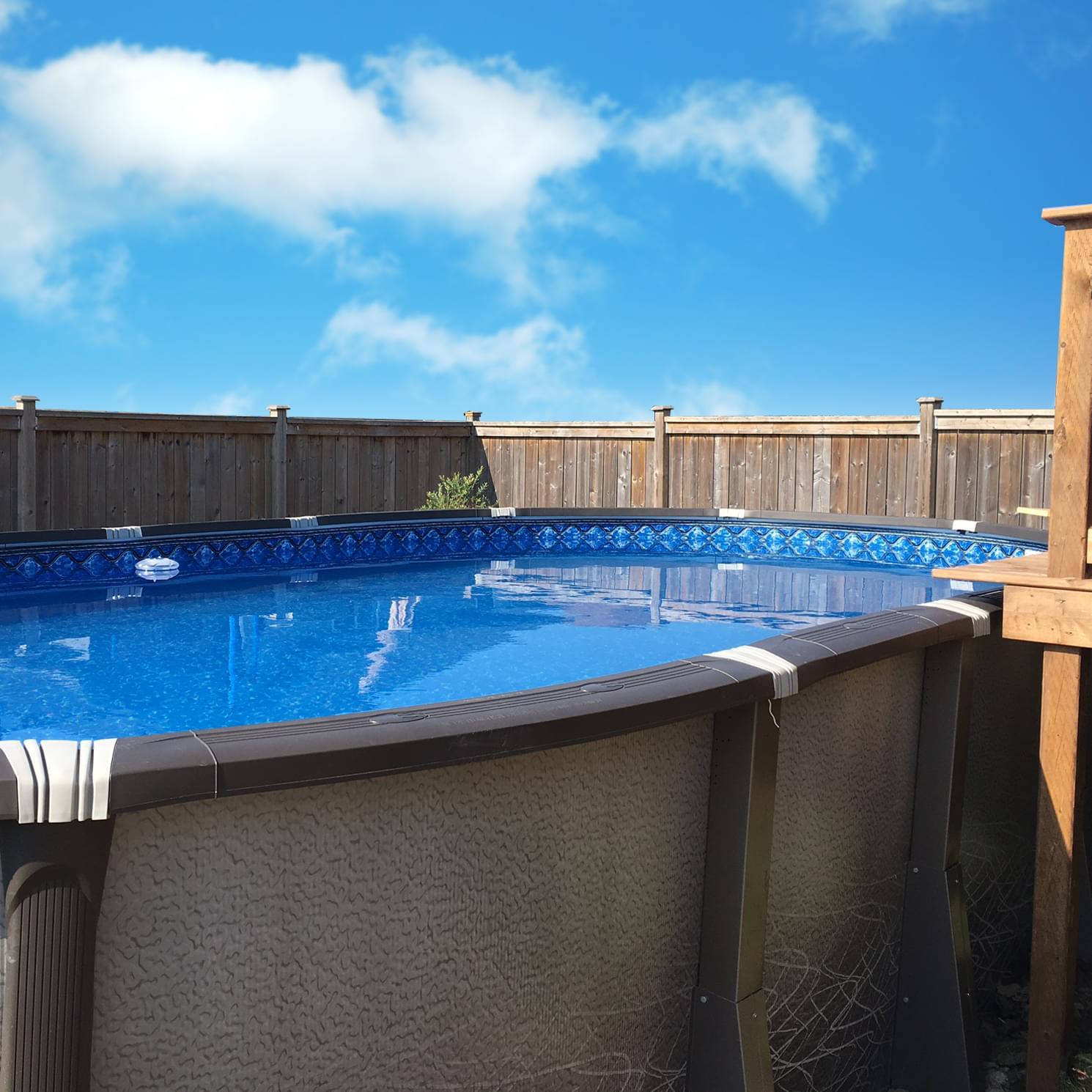 Piscine hors terre l ment de 12 x 24 pieds ovale forfait for Chauffe eau pour piscine hors terre