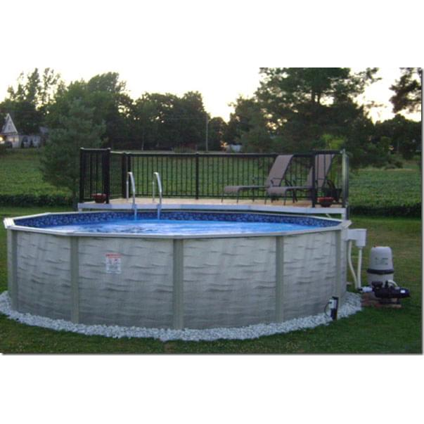 Evolution 18 ft round above ground p pool supplies canada for Piscine 24 pieds