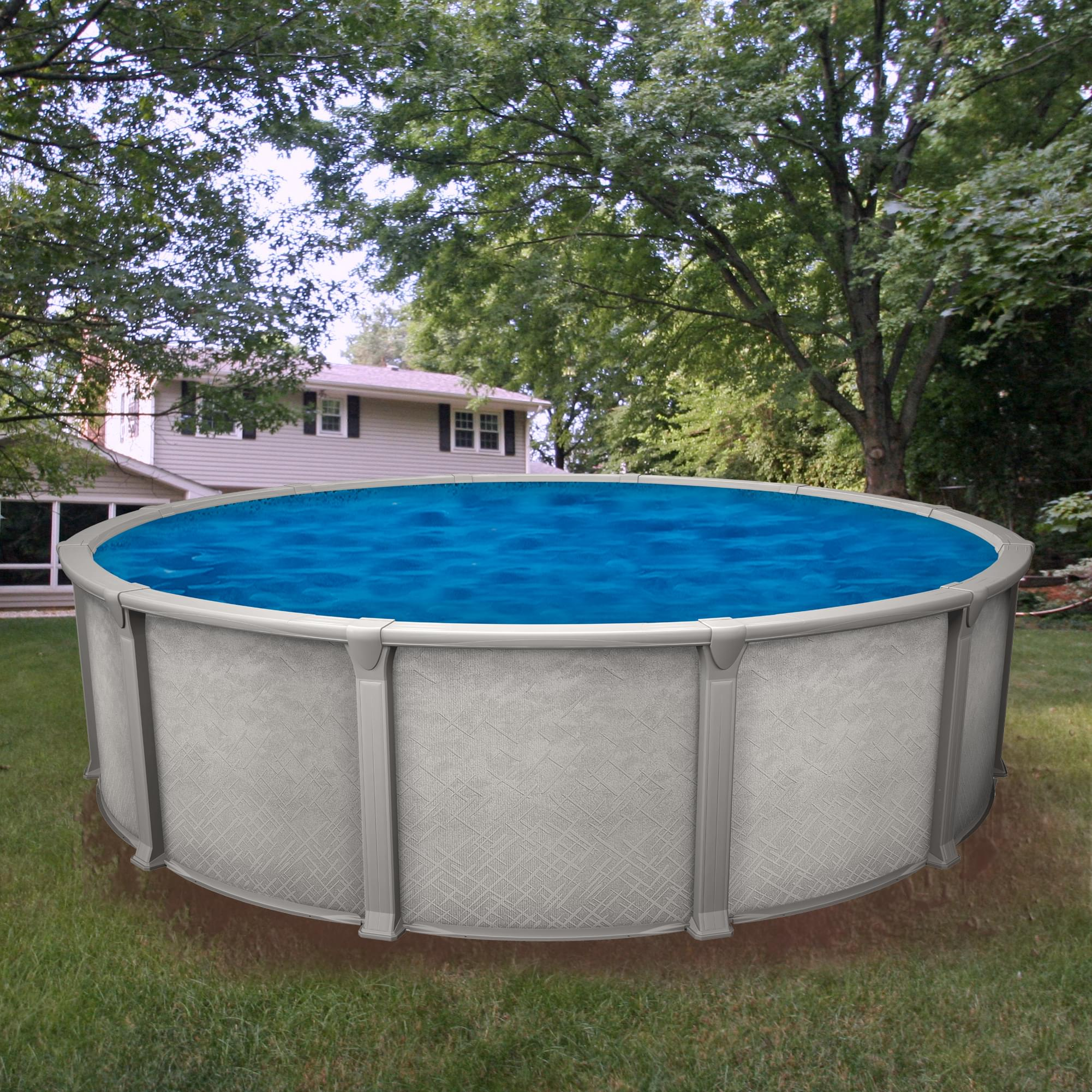 Galaxy 24 ft round above ground pool for Piscine 24 pieds