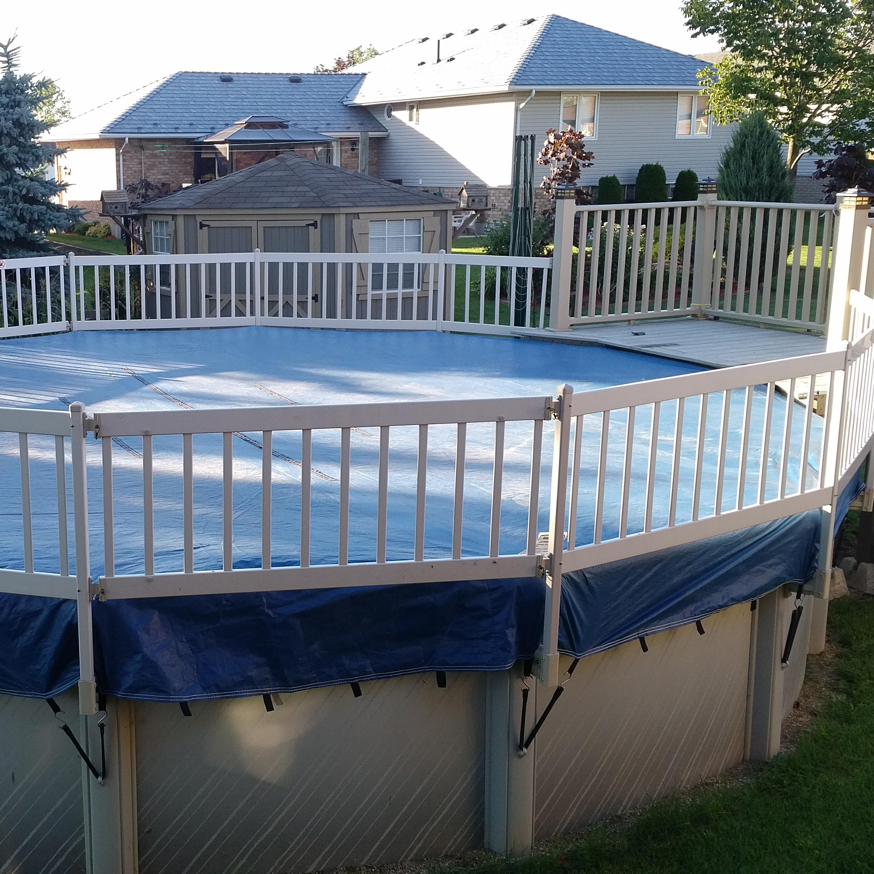 Couverture d 39 hiver eliminator de 21 pieds ronde pool for Piscine 21 pieds litres