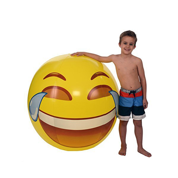 Giant Smiley Emoji Beach Ball