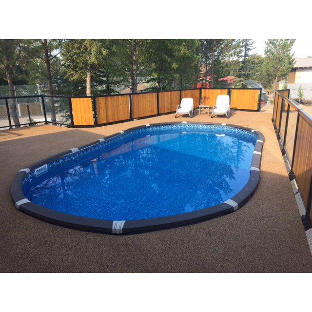 Element 21 round above ground pool pool supplies canada for Above ground pool decks canada