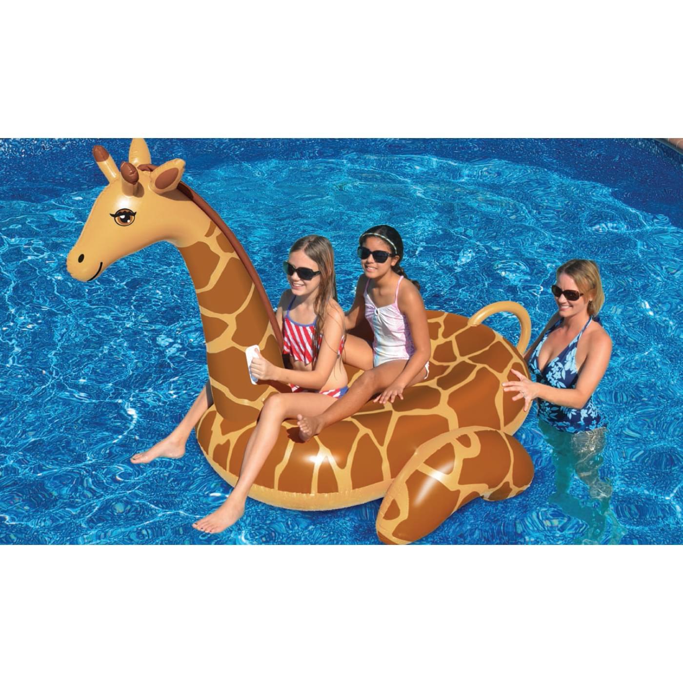 Giant Giraffe Ride-On Pool Float