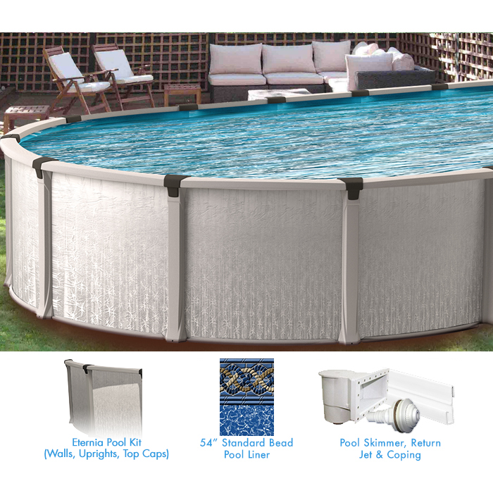 Eternia 13 X 20 Ft Oval Buttress Free Above Ground Pool Custom Package Pool Supplies Canada