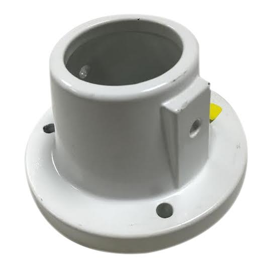 Aluminum deck flanges for inch hand rails pool