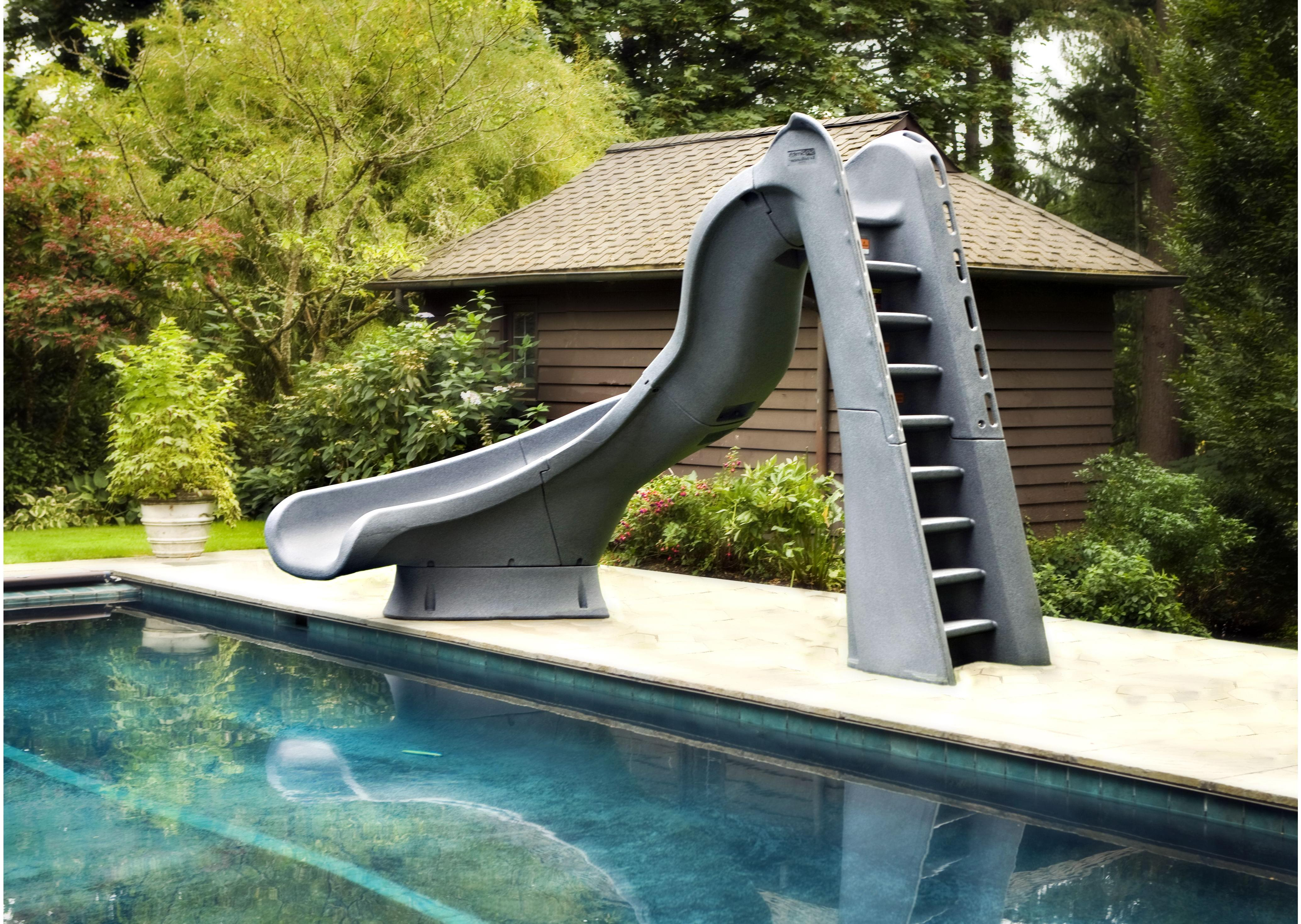 Turbotwister Left Hand Turn Inground Pool Slide Pool Supplies Canada