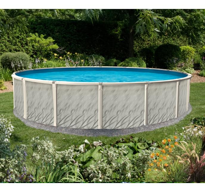 15 Ft Round Opus Above Ground Pool With 52 Inch Avanti