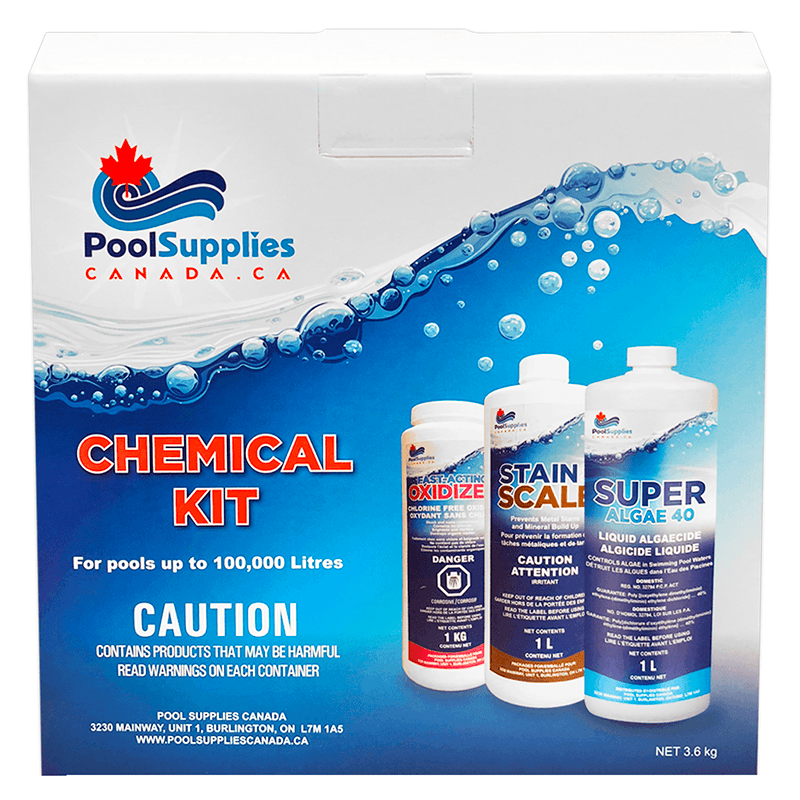 Pool Supplies Canada Chemical Kit (Up to 100,000 L)