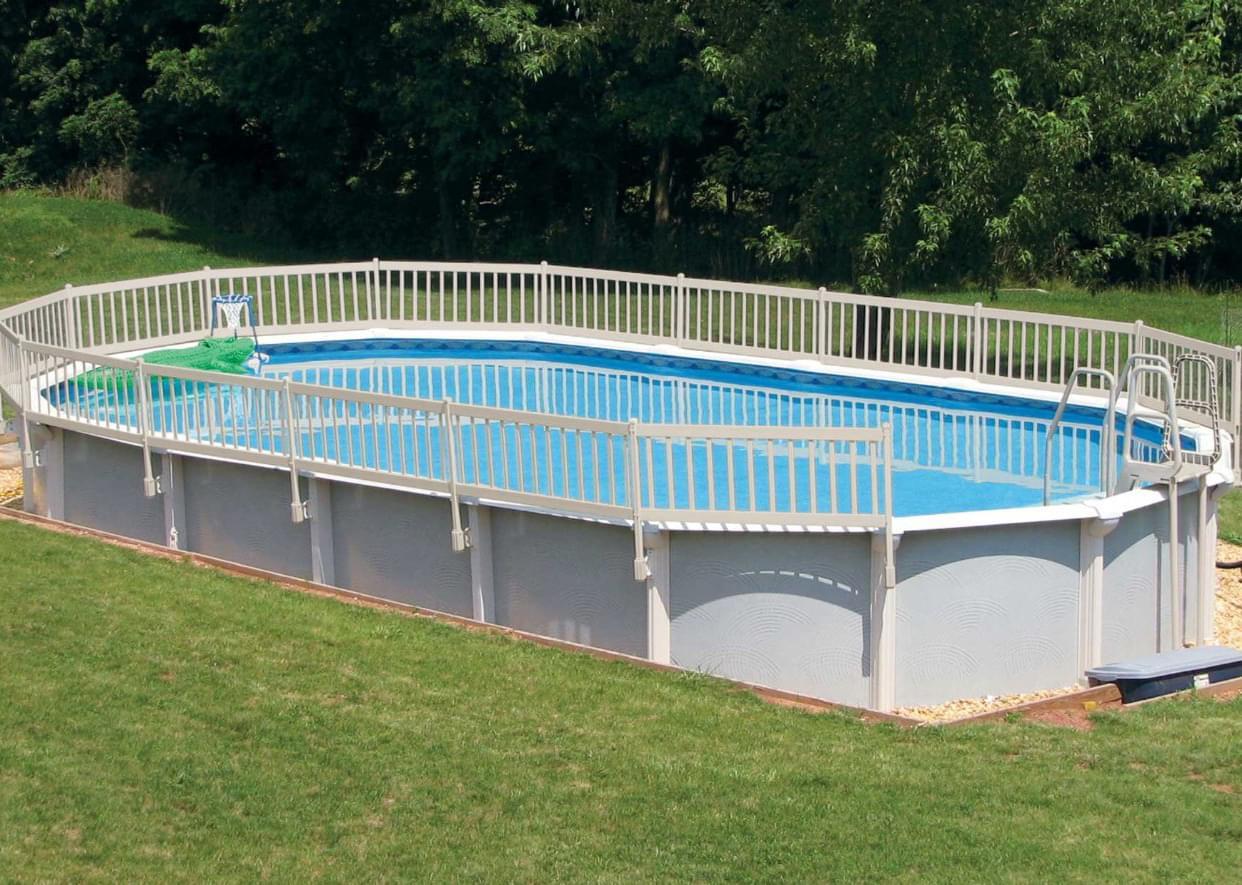 Trousse de portail pour cl ture blan magasin de piscine for Portail piscine