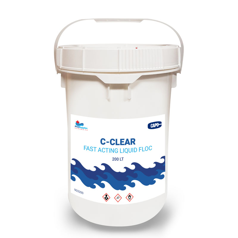 C-Clear Fast Acting Liquid Floccing Agent (200 Litre Commercial Sized Container)