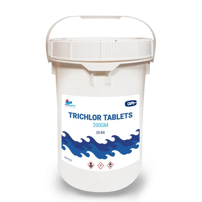 200 Gram Trichlor Tablets (20 Kg Commercial Size Pail)