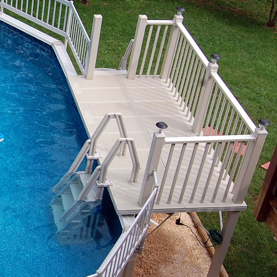 Vinylworks 5 X 10 Ft Resin Side Deck Kit With Steps And