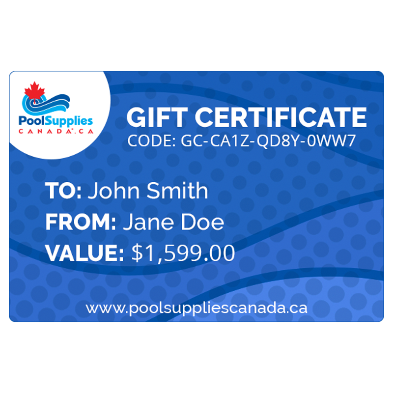 Pool Supplies Canada Gift Certificate