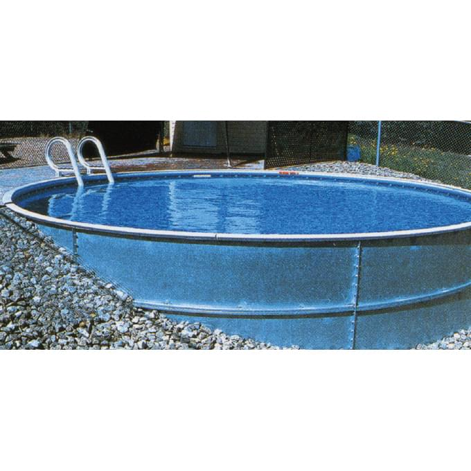 Eternity 24 Ft Round Semi Inground Pool Basic Pool