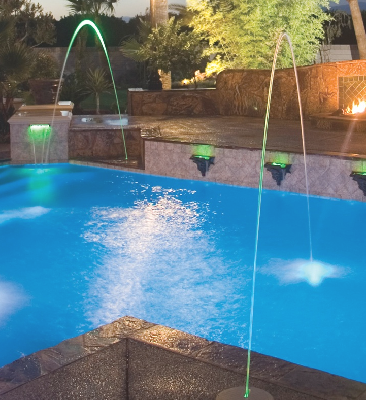 Jandy Laminar Deck Jet With Led Colour Light Pool