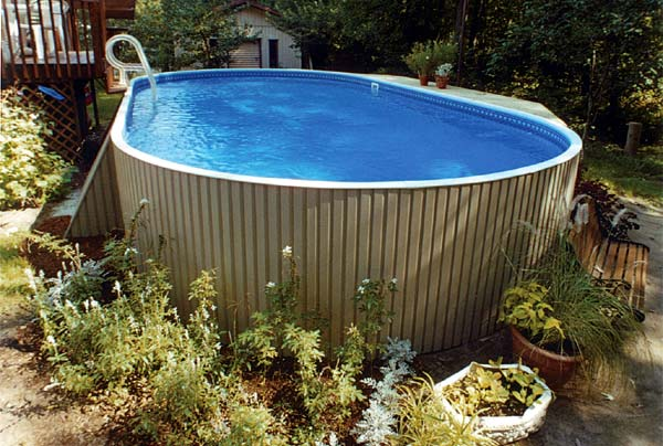 Eternity 15 x 30 ft oval semi inground pool basic package for 12x24 pool design