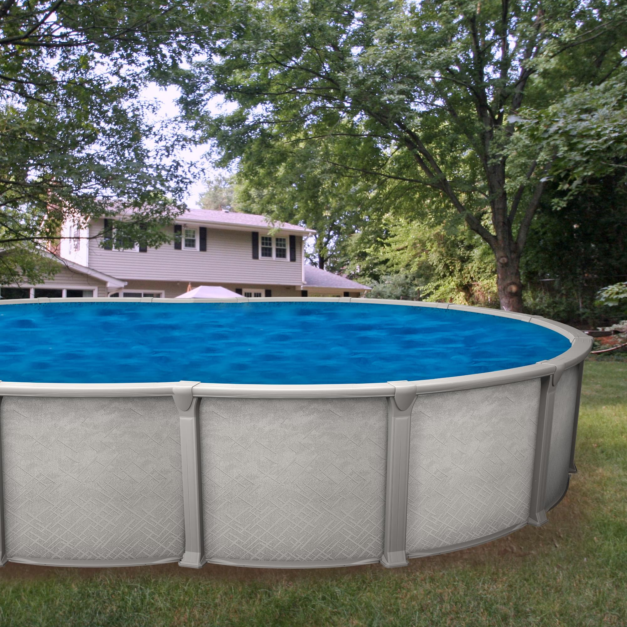 Galaxy 18 x 33 ft oval buttress free pool package pool for Aqua 2000 piscine