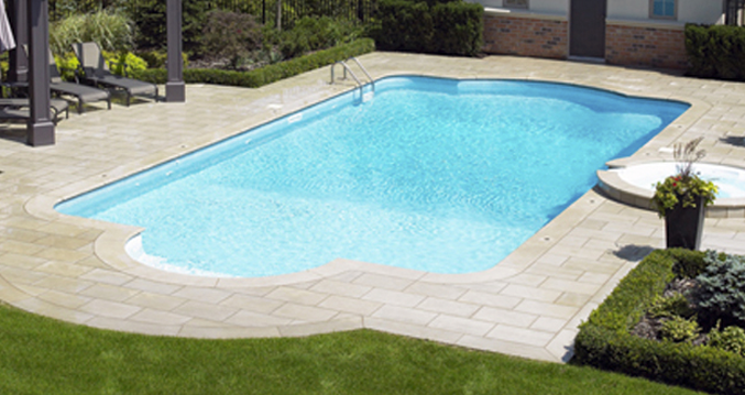 16 x 32 ft roman inground pool compl pool supplies canada for Liner piscine turquoise