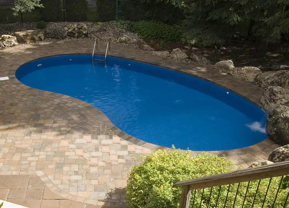 Eternity 16 x 32 ft kidney semi inground pool basic package for On ground pools