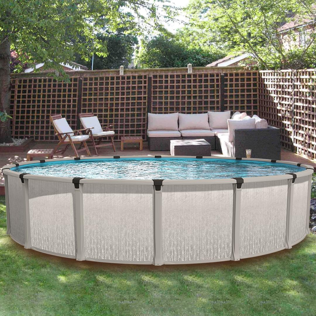 Eternia 21 ft round above ground pool custom package - Custom above ground pool ...