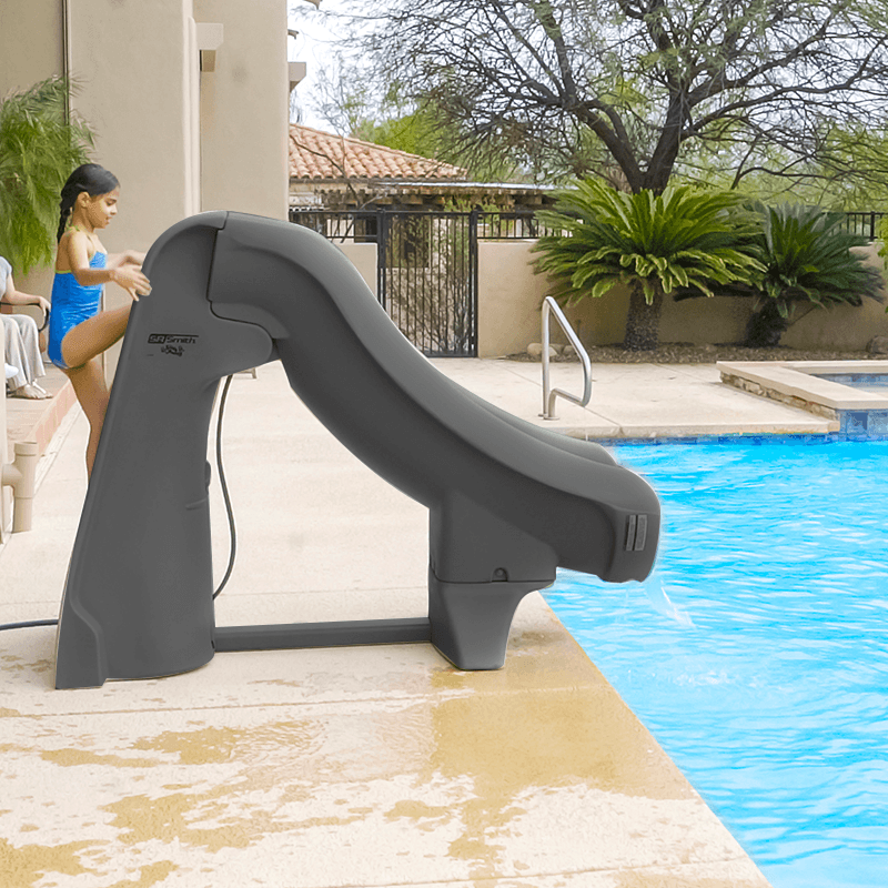 Slideaway Safe Removable Inground Pool Slide Grey Pool Supplies Canada