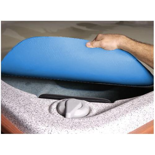 Blue thermo insulating spa blanket pool supplies canada for Bathtub covers liners