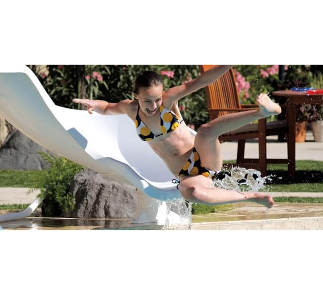 Inter Fab Zoomerang Inground Pool Slide Pool Supplies Canada