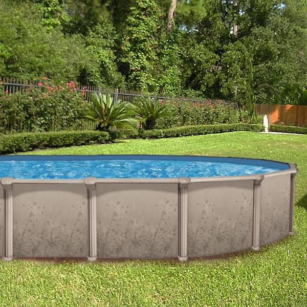 Nature 12 x 24 ft Oval Buttress Free Above Ground Pool with Liner and  Skimmer