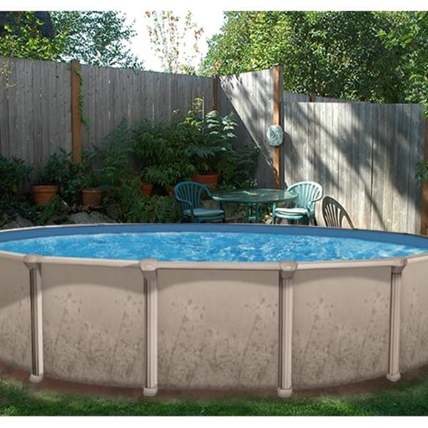 Nature 27 ft round above ground pool pool supplies canada for Piscine 21 pieds litres