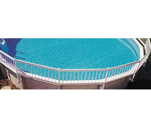 Trousse b pour cl ture blanche pisci magasin de piscine for Cloture pour piscine gonflable