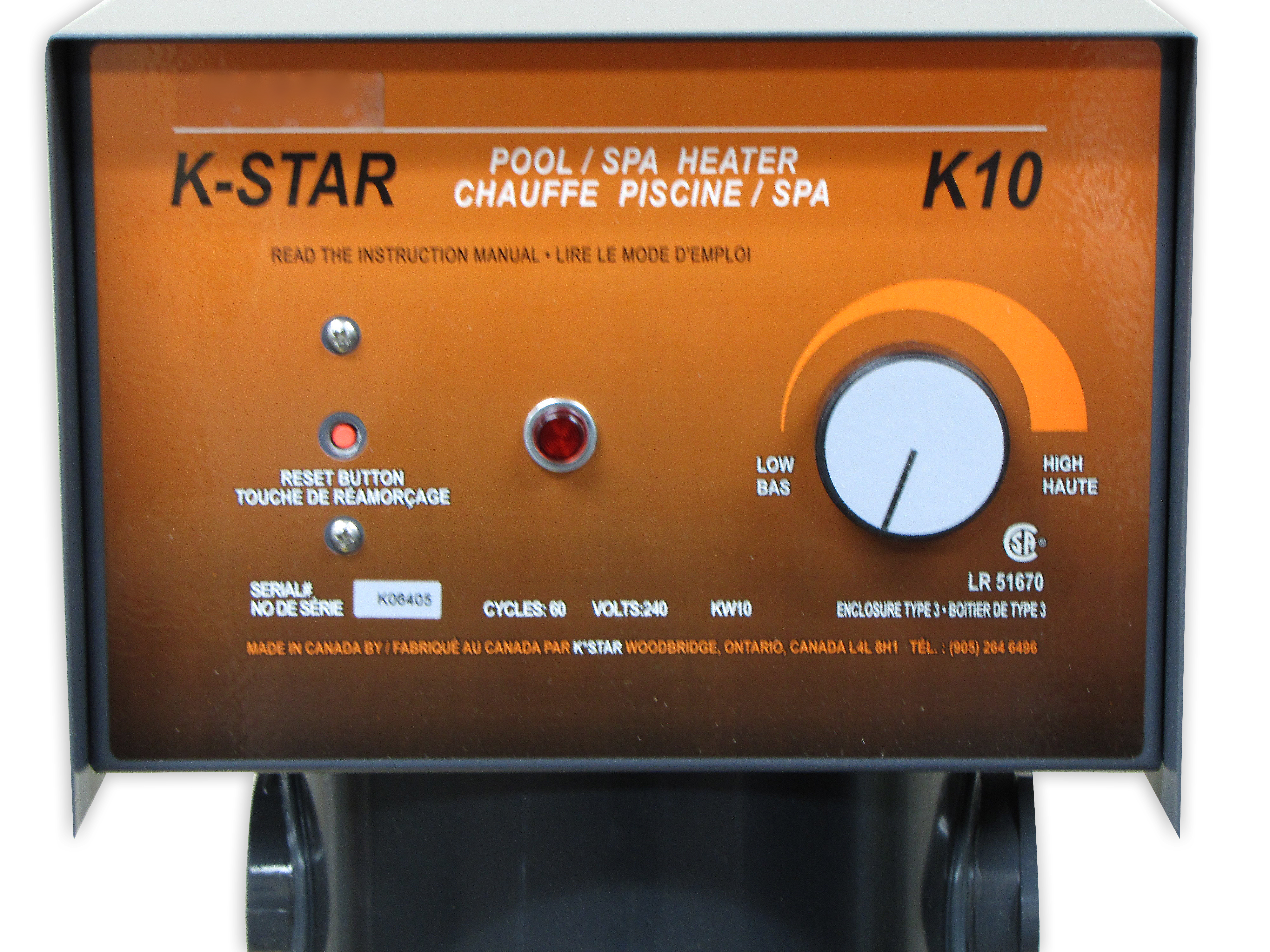 K Star 5kw Electric Pool Spa Heater Supplies Canada Wiring A Hot Tub Thermostat Free Shipping