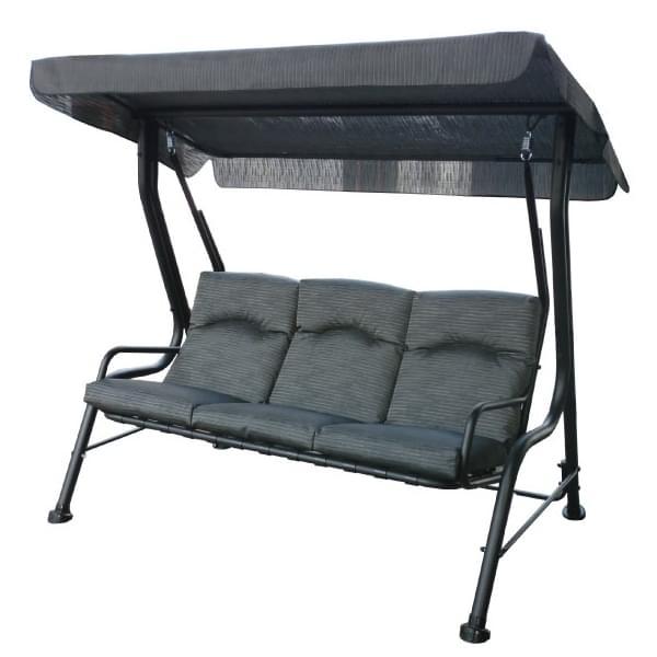 3 seat steel swing black pool supplies canada for Balancoire exterieur