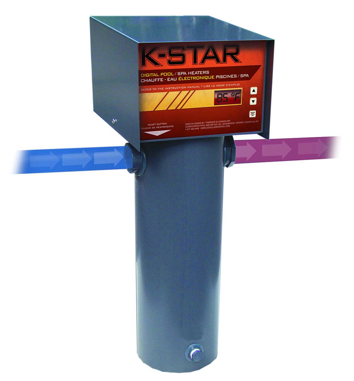 K star digital salt water friendly 1 pool supplies canada for Chauffe piscine