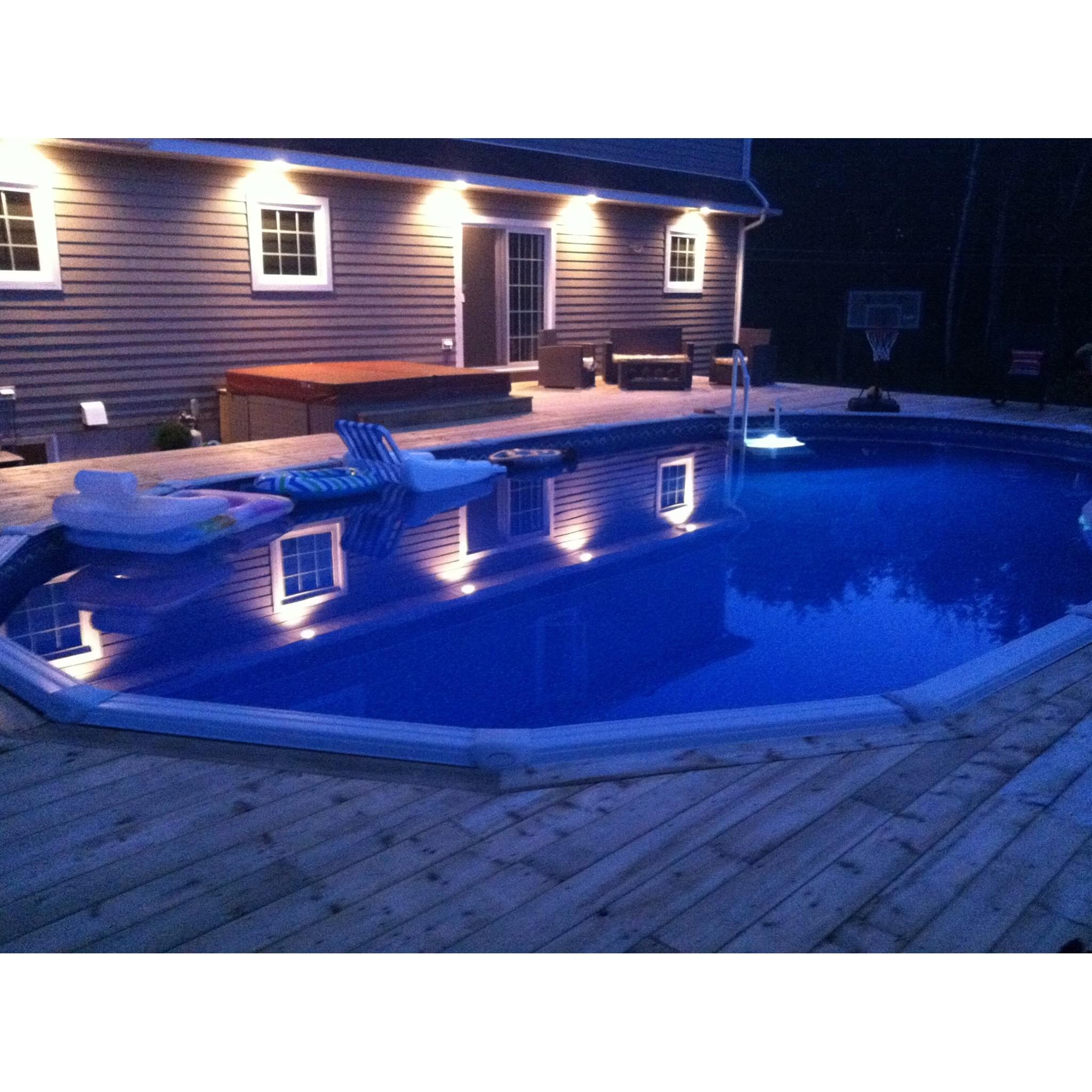 Nature 12 x 24 ovale sans contrefort toile et cumoire for Cloture piscine hors terre prix