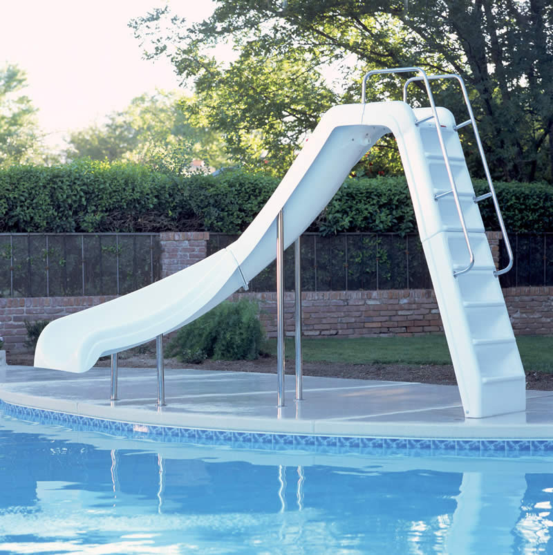 Inter Fab Wild Ride Left Hand Inground Slide Pool