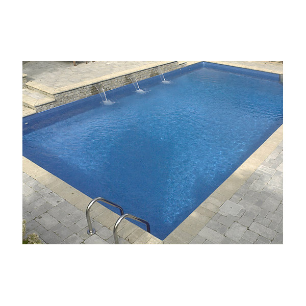 12 x 24 ft rectangle 2 ft round corners basic pool for Piscine 24 pieds