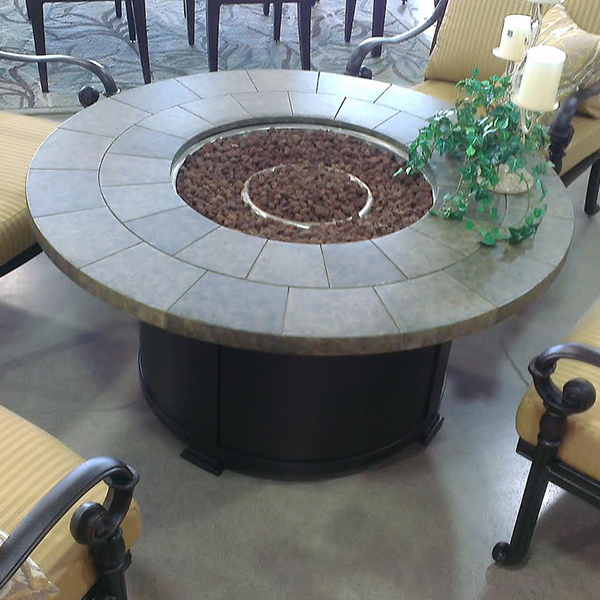 "48"" Round Pebble Fire Pit"